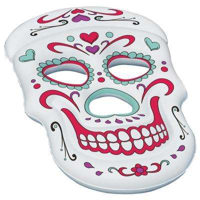 62 in. x 40 in. White Sugar Skull Pool Float