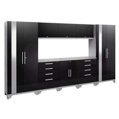 Performance 2.0 72 in. H x 132 in. W x 18 in. D Garage Cabinet Set in Black (9-Piece)