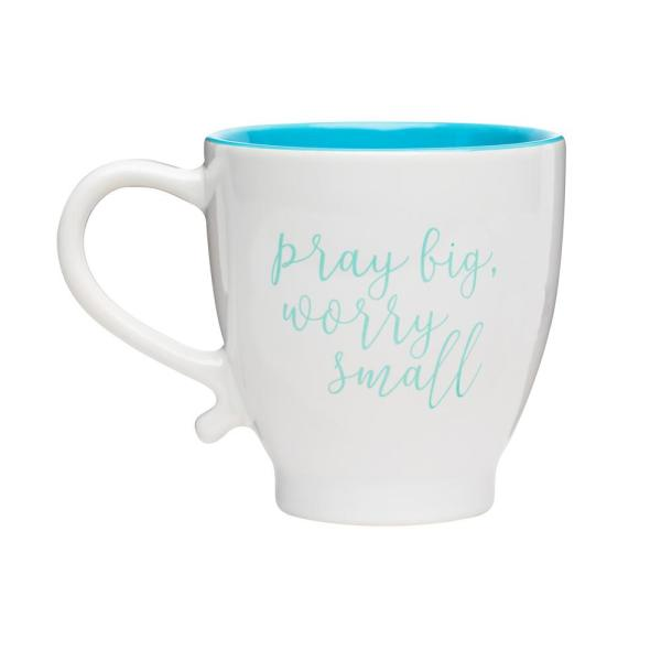 Worry OzWhite Teal Ceramic Coffee Mug 20 Small OPkXTuZi