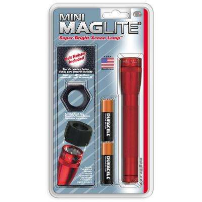 Lens Pack - 2-Cell AA Red Aluminum Flashlight
