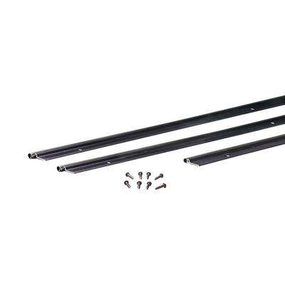 72 in. x 84 in. Flat Profile Door Jamb Bronze Weatherstrip Kit