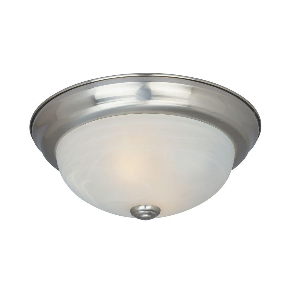 Reedley Collection 2-Light Satin Platinum Ceiling Flushmount