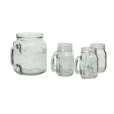 Serving 5-Piece Clear Glass Drinkware Set