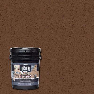4 gal. 10X Advanced Russet Deck and Concrete Resurfacer