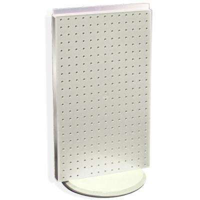 22 in. H x 13.5 in. W Counter top Pegboard Display in White Styrene