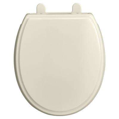 Traditional Slow-Close EverClean Round Closed Front Toilet Seat in Linen