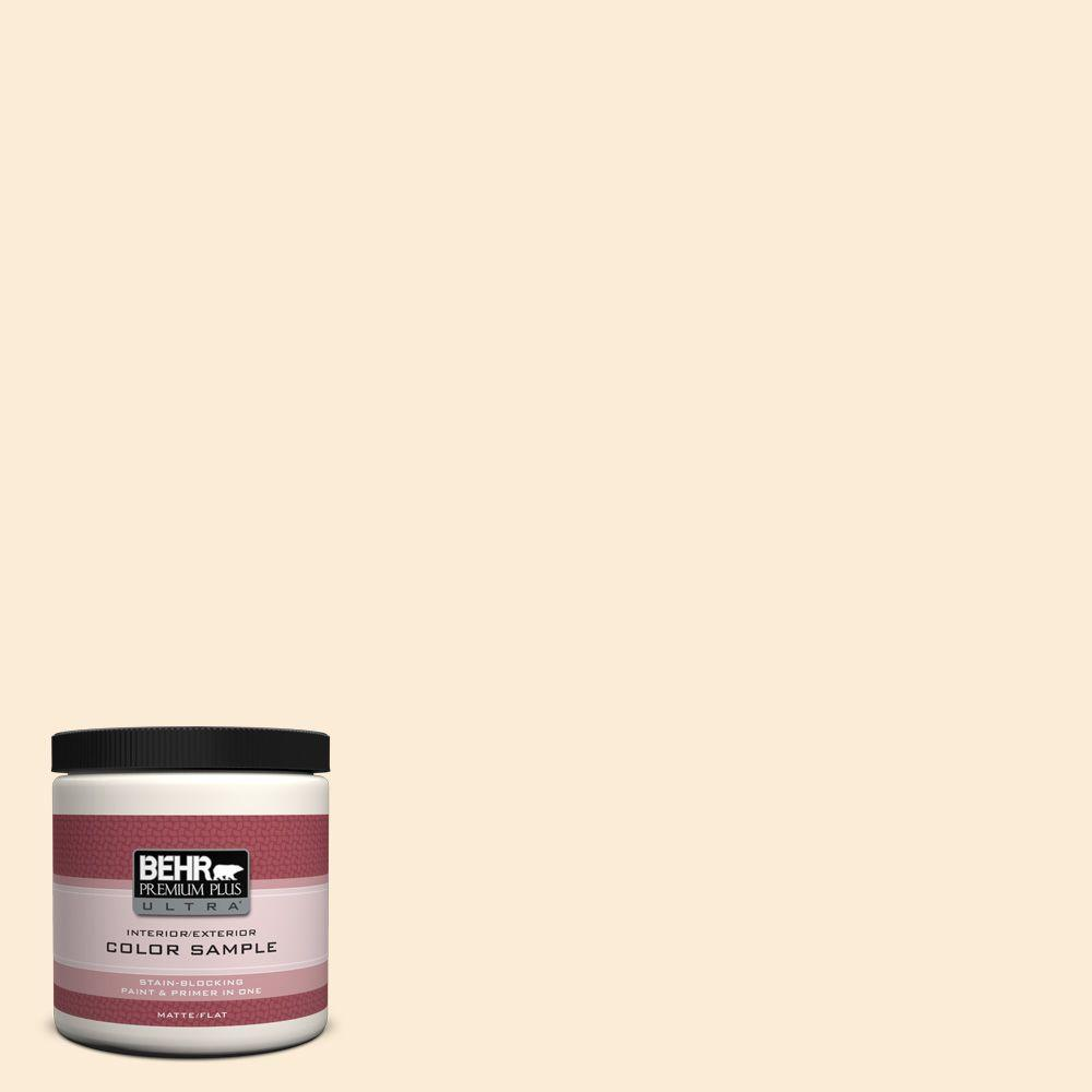BEHR Premium Plus Ultra 8 oz. #ICC-90 Butter Yellow Interior/Exterior Paint Sample