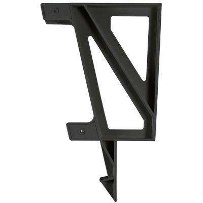 22 in. x 18.2 in. x 2.3 in. Resin Deck Bench Bracket Black (2-Pack)