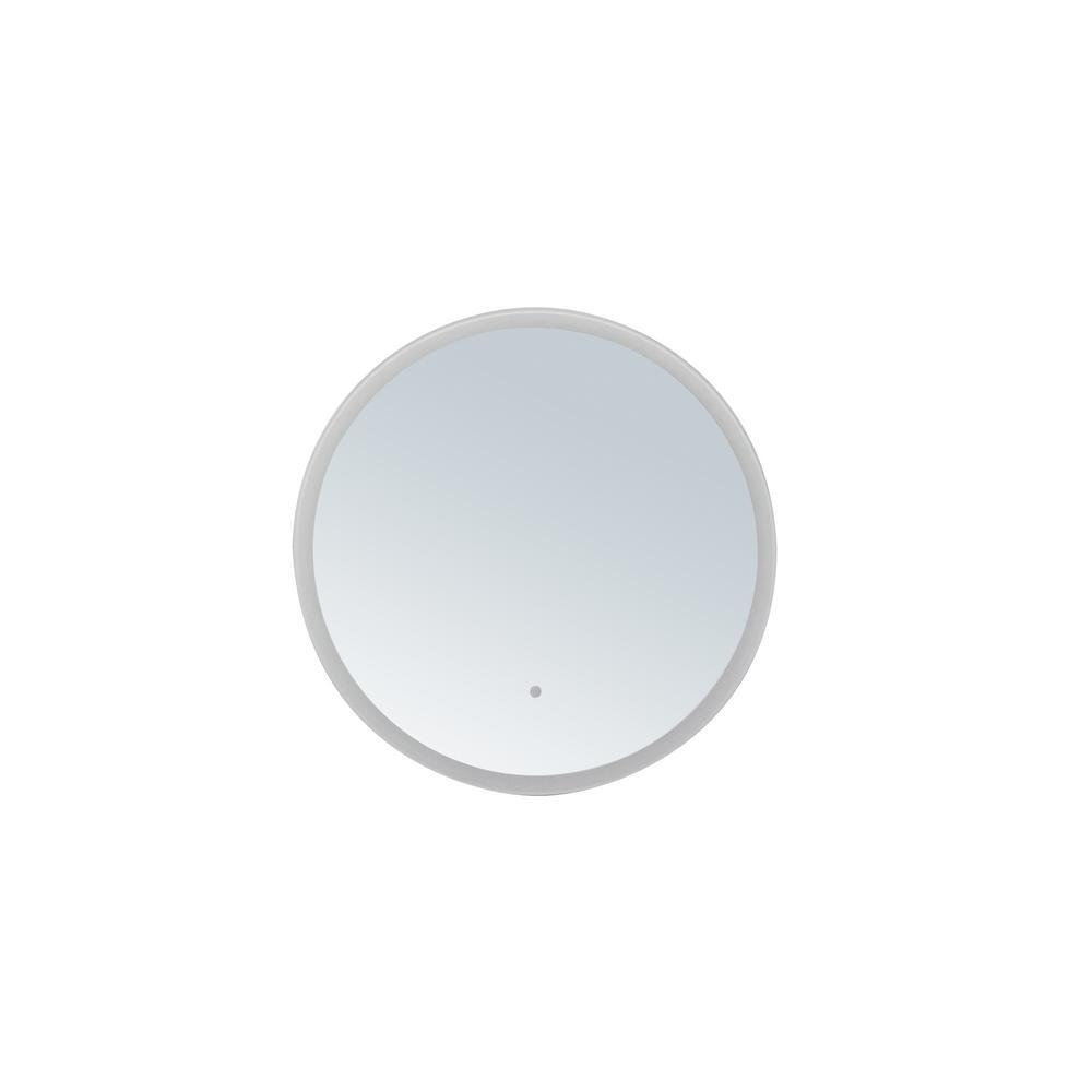 innoci-usa Apollo 36 in. x 36 in. Round LED Mirror, Mirrored