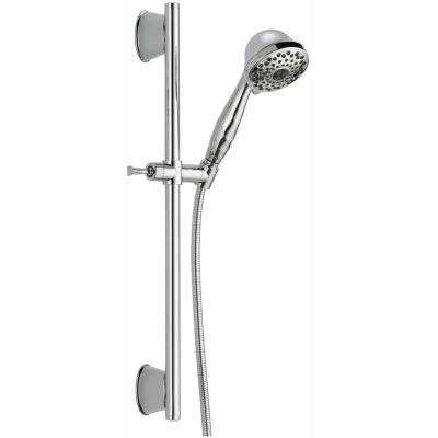 7-Spray Handheld Showerhead with Slide Bar and Pause in Chrome