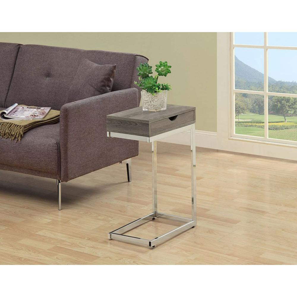 Delicieux Monarch Specialties Dark Taupe End Table