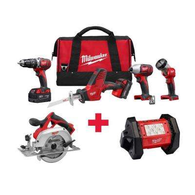 M18 18-Volt Lithium-Ion Cordless Combo Kit (4-Tool) with Free M18 Circ Saw and M18 LED Flood Light