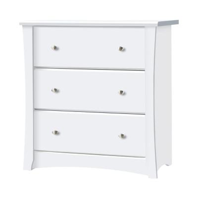 Crescent 3-Drawer White Chest (33.4 in. H x 31.5 in. W x 17 in. D)
