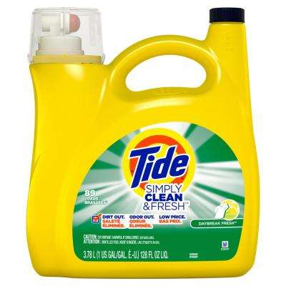 128 fl. oz. Simply Clean and Fresh Daybreak Fresh Scent Liquid Laundry Detergent (89-Loads)