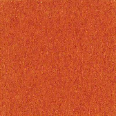 Imperial Texture VCT 12 in. x 12 in. Pumpkin Orange Standard Excelon Commercial Vinyl Tile (45 sq. ft. / case)