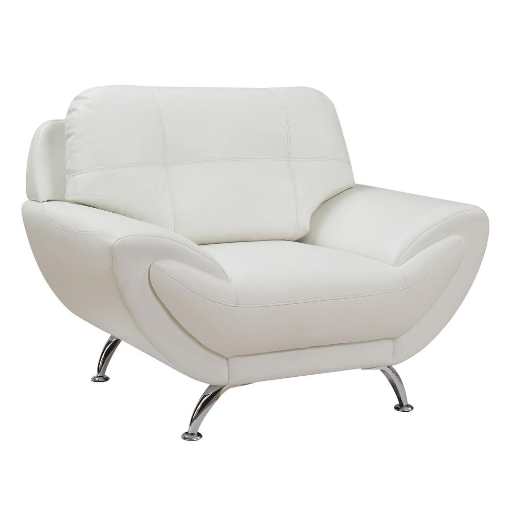 Reanna White Contemporary Style Living Room Chair