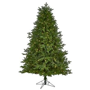 7 ft. Pre-lit Nova Scotia Fir Real Touch Artificial Christmas Tree with 400 Multi-Function Warm White LED Lights