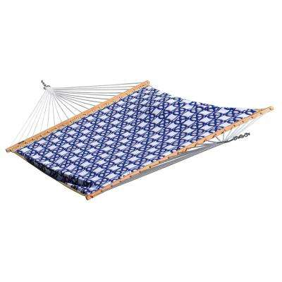 13 ft. Quilted Fabric Reversible Double Hammock in Nautical