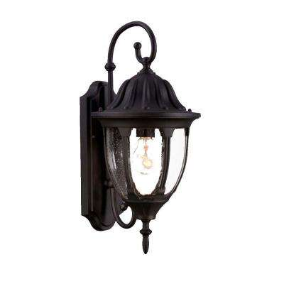 Suffolk Collection 1-Light Matte Black Outdoor Wall-Mount Fixture
