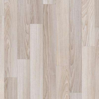 Take Home Sample Oak Strip Washed Grey Vinyl Sheet - 6 in. x 9 in.
