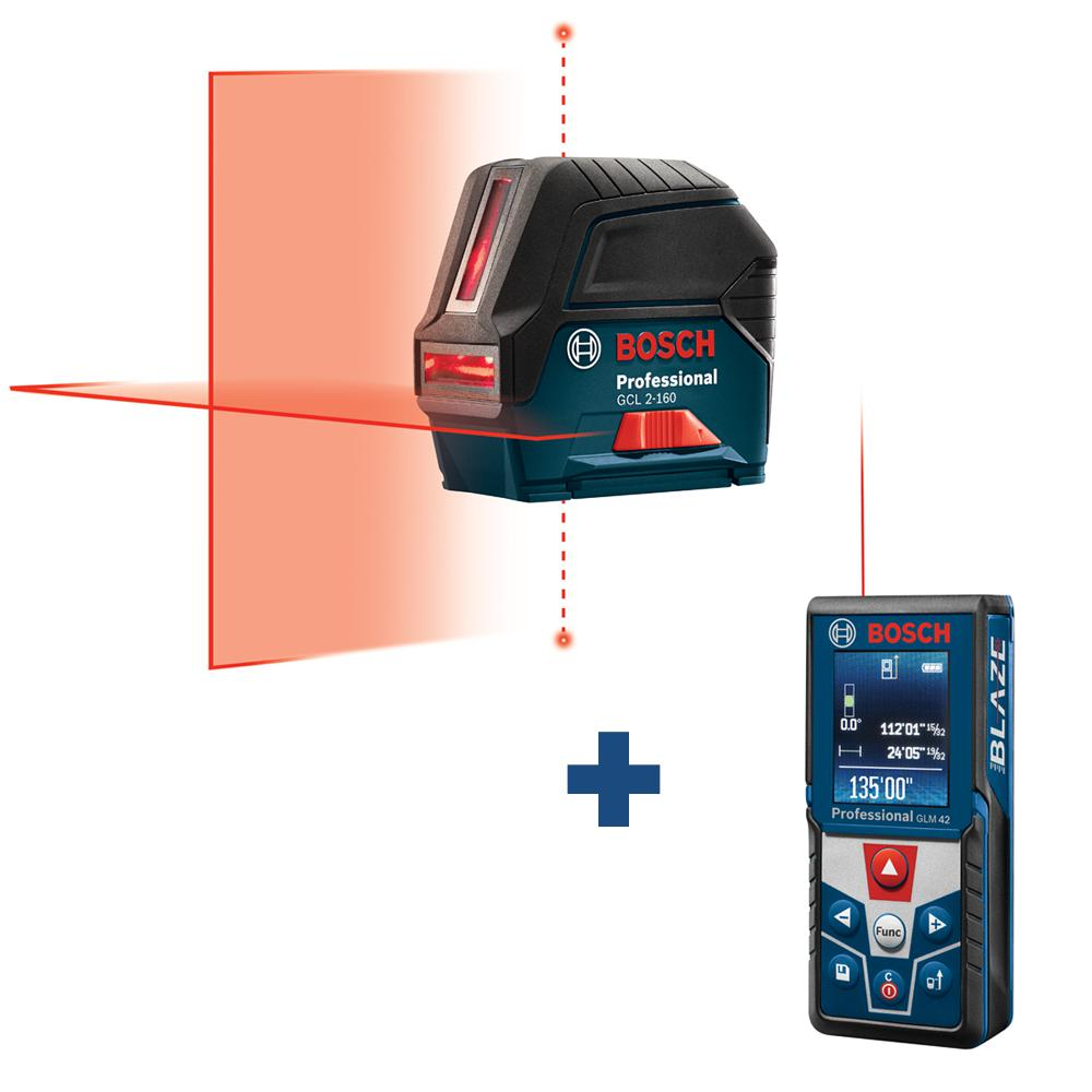 Bosch 65 ft. Self Leveling Cross Line Laser Level with Plumb Points plus BLAZE 135 ft. Laser Measurer with Full Color Display was $298.0 now $199.0 (33.0% off)
