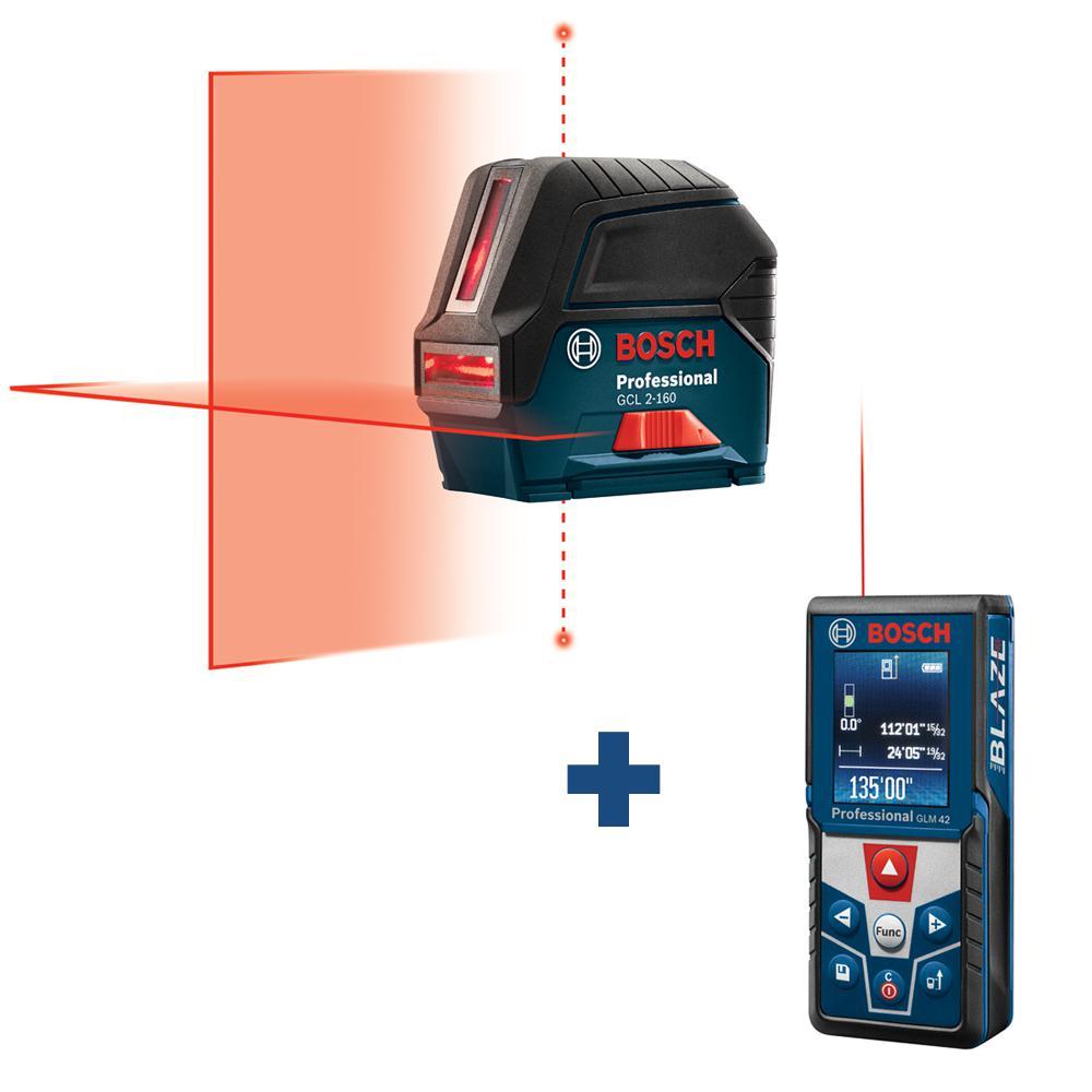 65 ft. Self Leveling Cross Line Laser Level with Plumb Points plus BLAZE 135 ft. Laser Measurer with Full Color Display