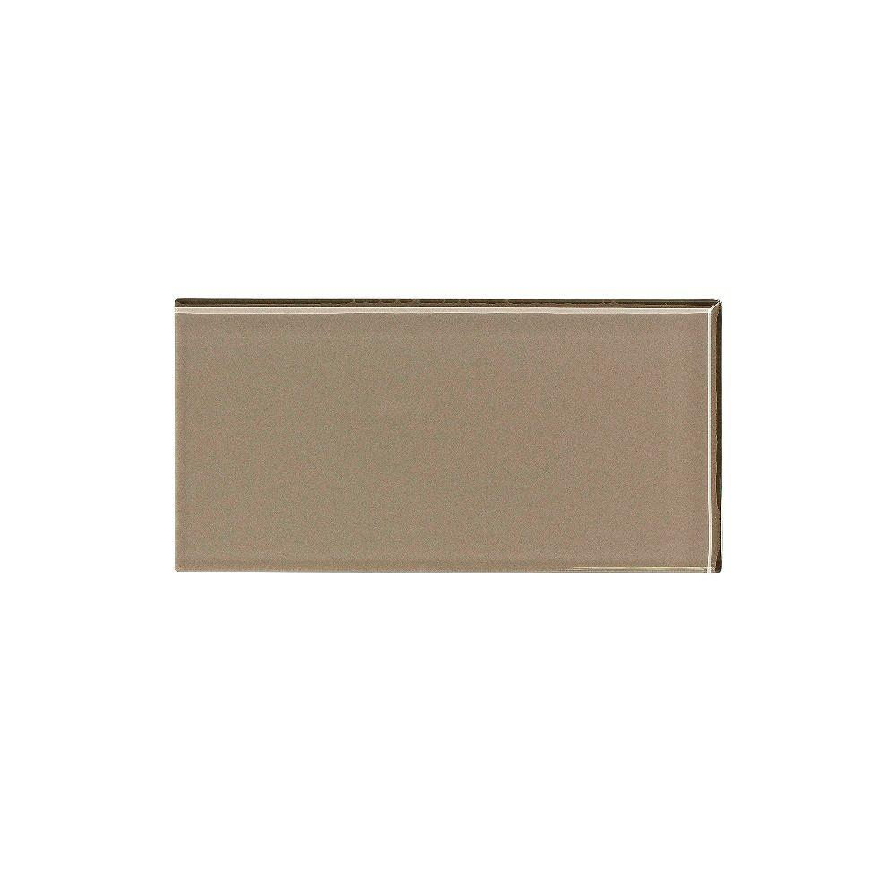 Aspect 3 In X 6 In Glass Decorative Wall Tile In Putty