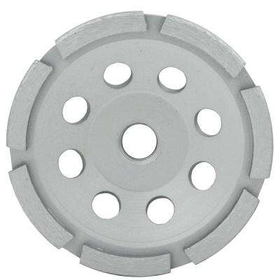 4.5 in. Single Row Segmented Diamond Grinding Cup Wheel with 5/8 in. -11 Nut