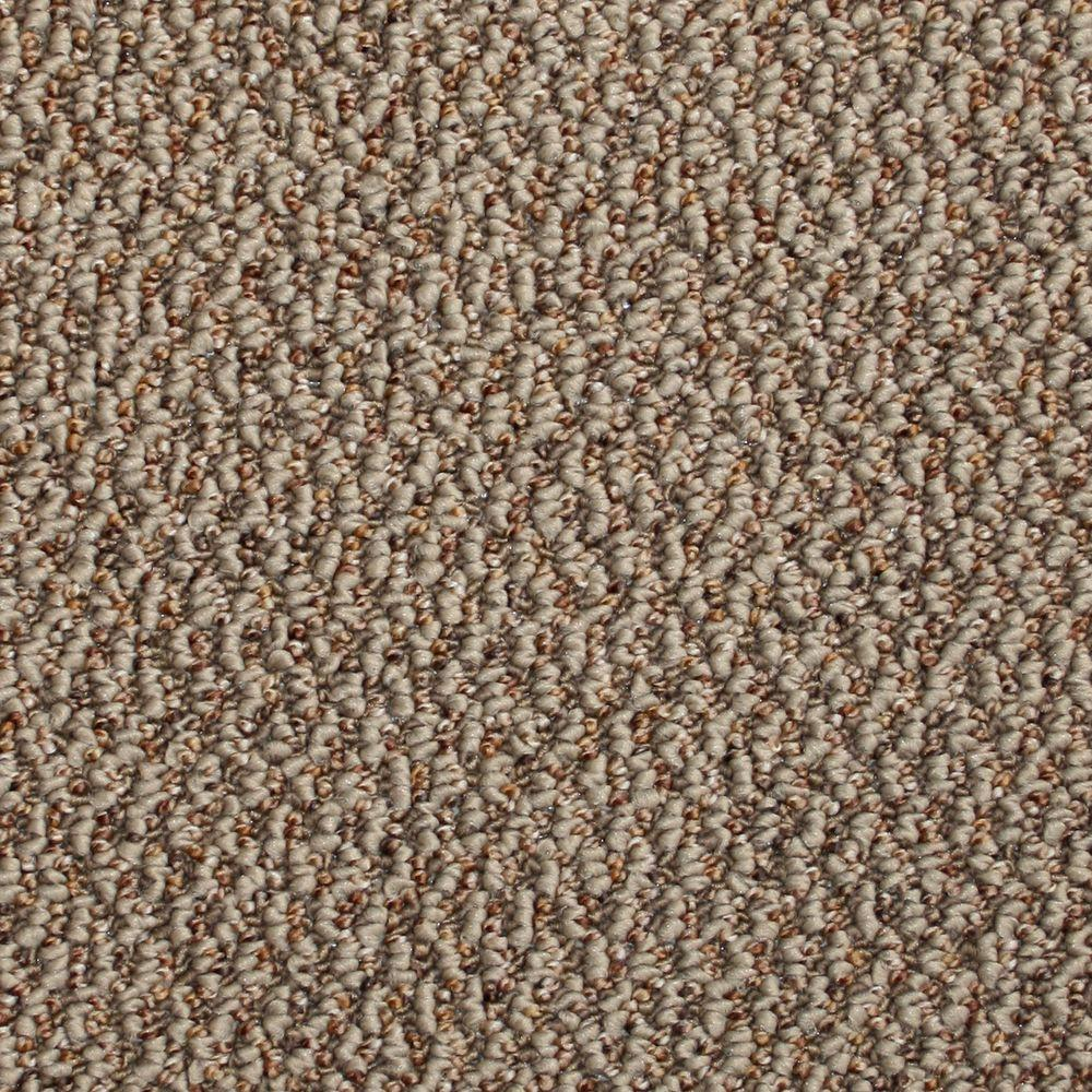 TrafficMASTER Critical Path - Color Tumbleweed Berber 12 ft. Carpet