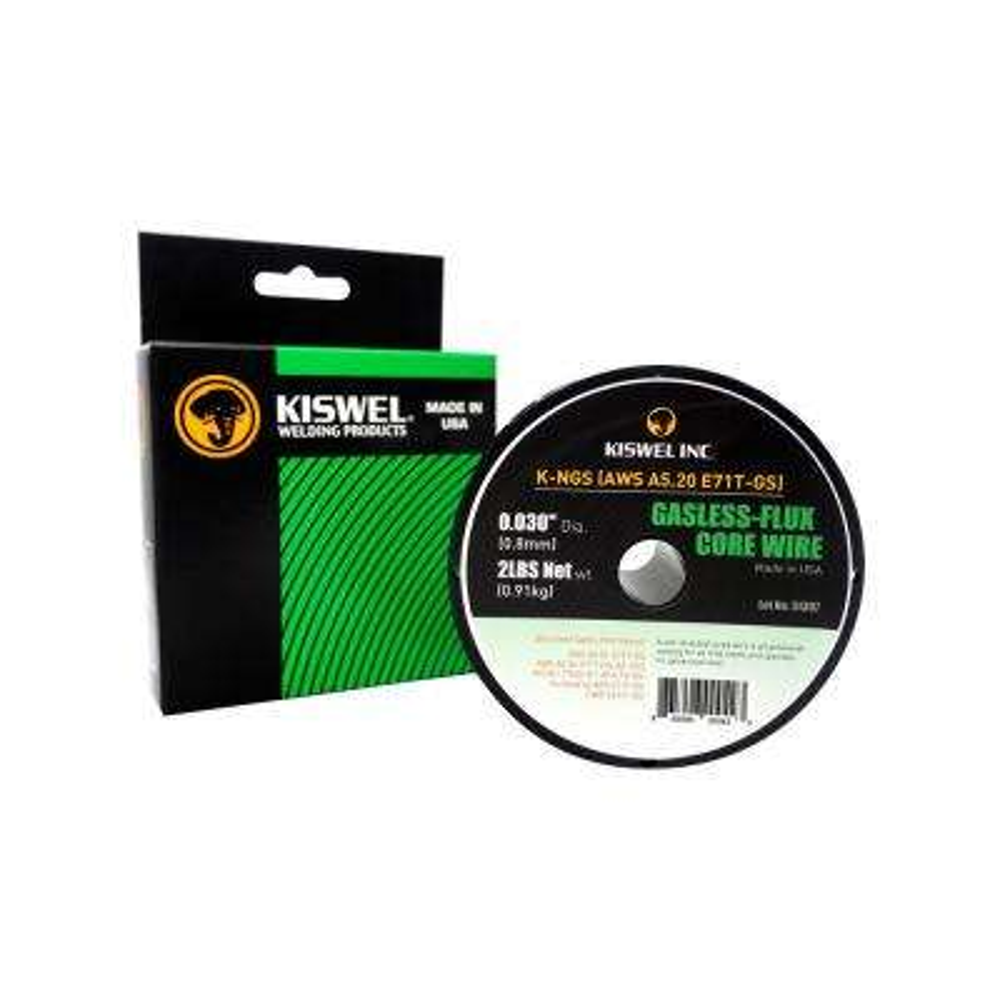 K-NGS (AWS A5.20 E71T-GS) 0.030 in. Dia 2 lb. Gasless-Flux Core Wire Self Shielded Cored Wire