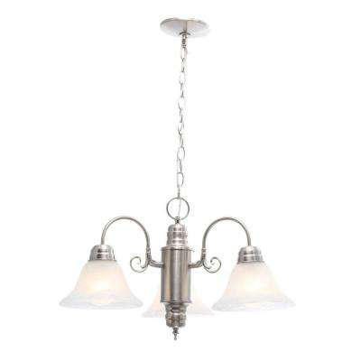 Millbridge 3-Light Satin Nickel Chandelier