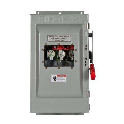 Heavy Duty 60 Amp 600-Volt 3-Pole Type 12 Non-Fusible Safety Switch with Window