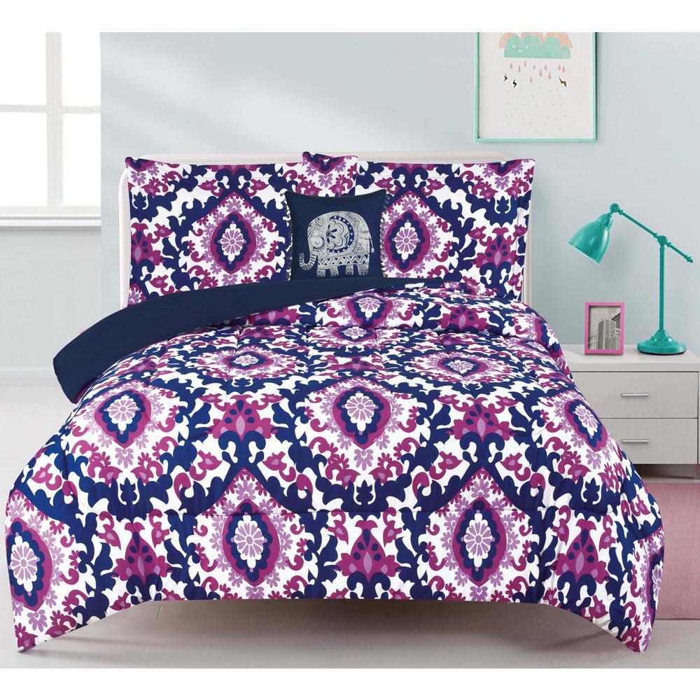 Calabria 3-Piece Multicolored Twin Comforter Set