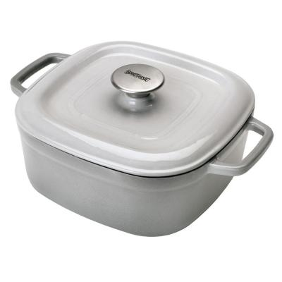 4 qt. Enameled Covered Weathered Gray Casserole