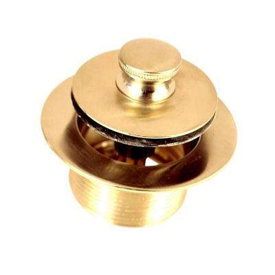 1.865 in. Overall Diameter x 11.5 Threads x 1.25 in. Push Pull Bathtub Closure, Polished Brass