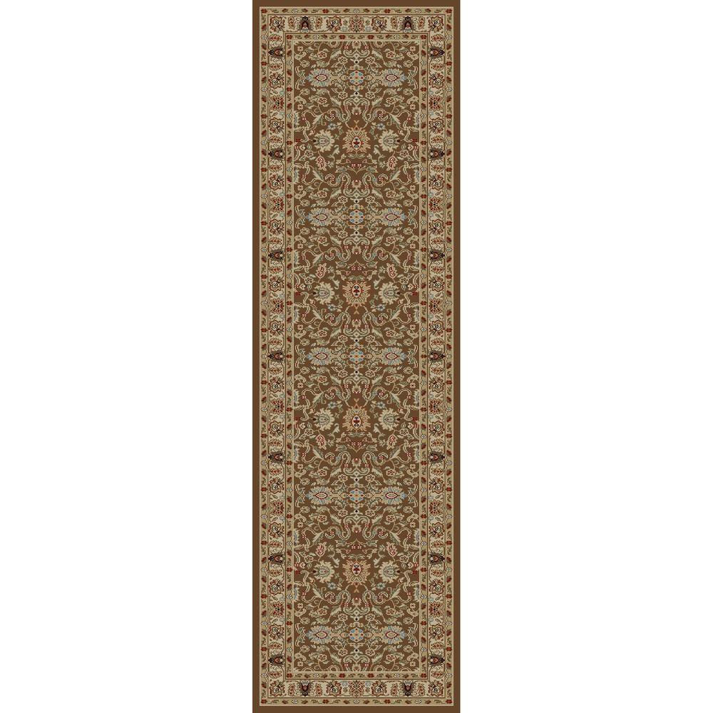 Concord Global Trading Ankara Agra Brown 2 ft. 2 in. x 7 ft. 3 in. Rug Runner