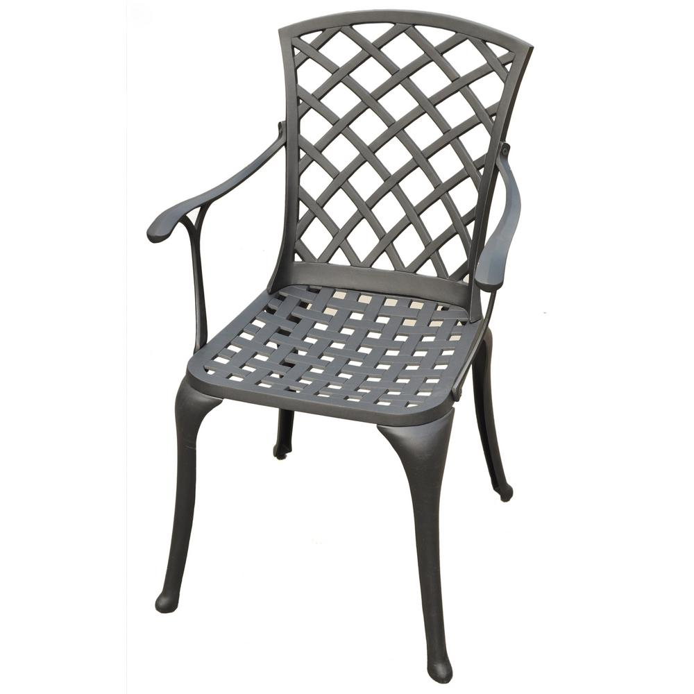 Sedona Cast Aluminum Outdoor Dining Chair 2 Pack