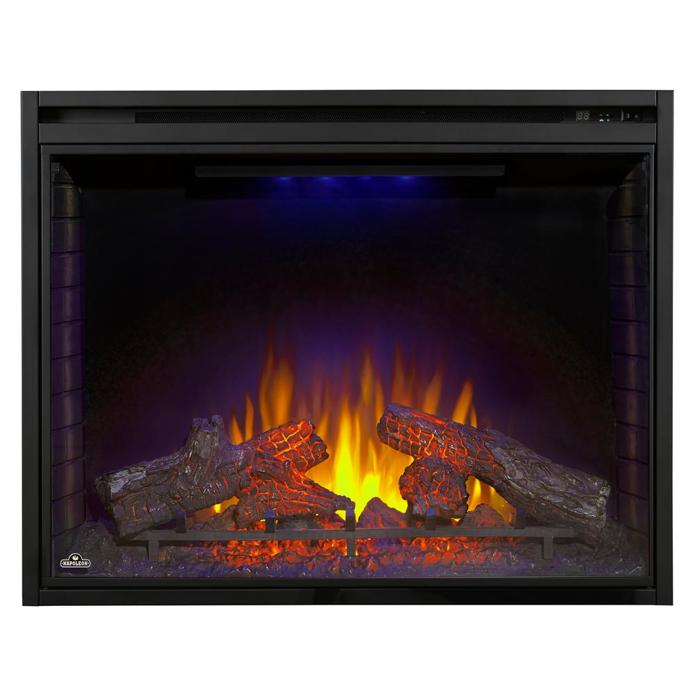 Napoleon 40 In Built In Electric Fireplace Insert Bef40h The Home Depot