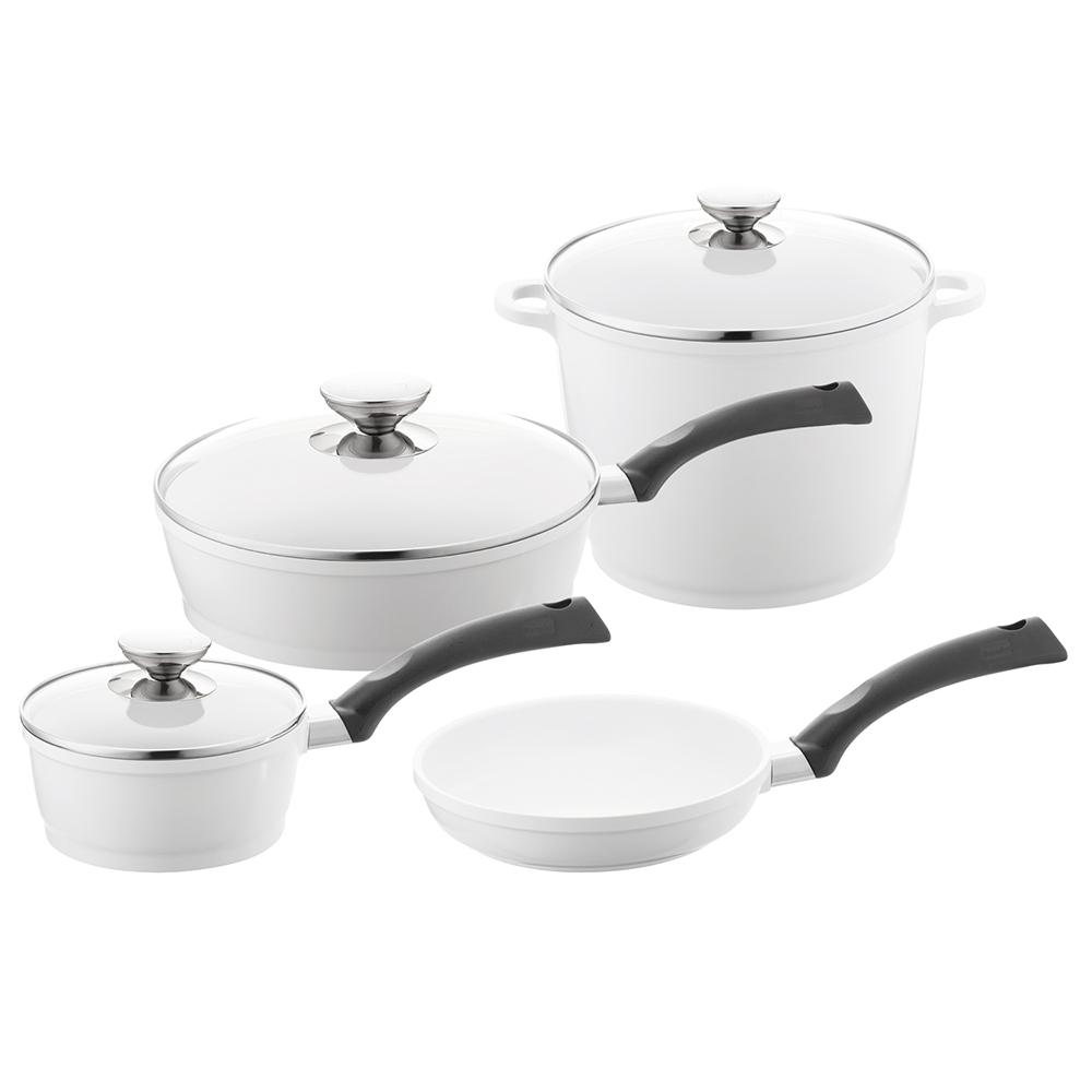 SignoCast 7-Piece Pearl Cookware Set with Lids