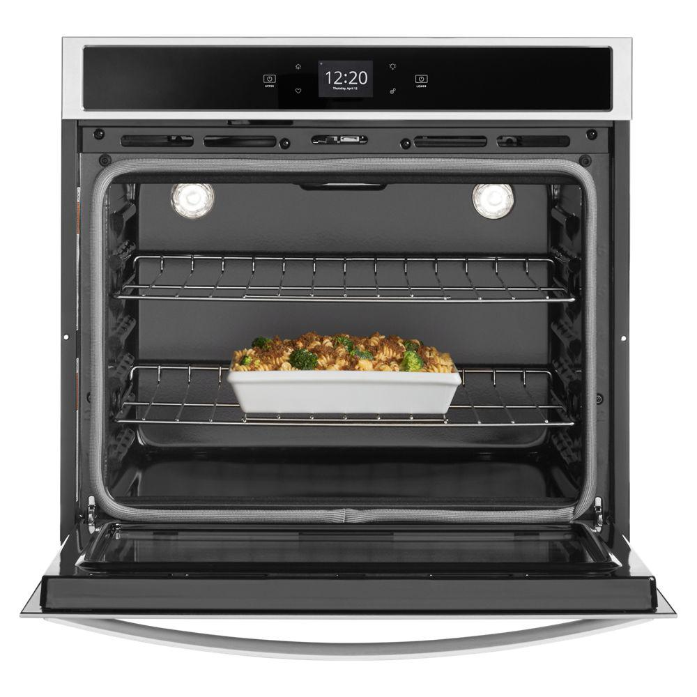 Whirlpool 30 In Single Electric Wall Oven With Touchscreen Stainless Steel