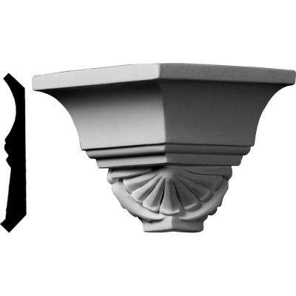 2-3/4 in. x 2-3/4 in. x 2-7/8 in. Polyurethane Crown Outside Corner Moulding