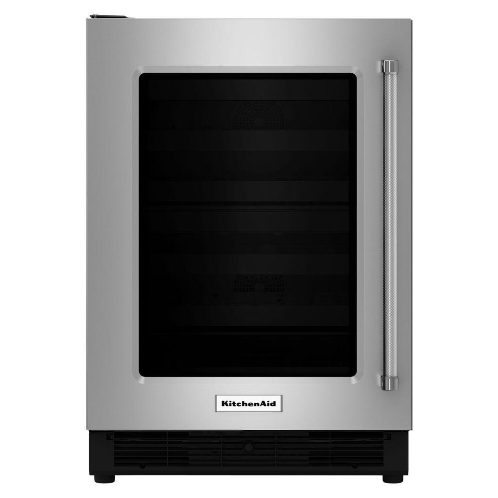 Kitchenaid 51 Cu Ft Undercounter Refrigerator In Stainless Steel