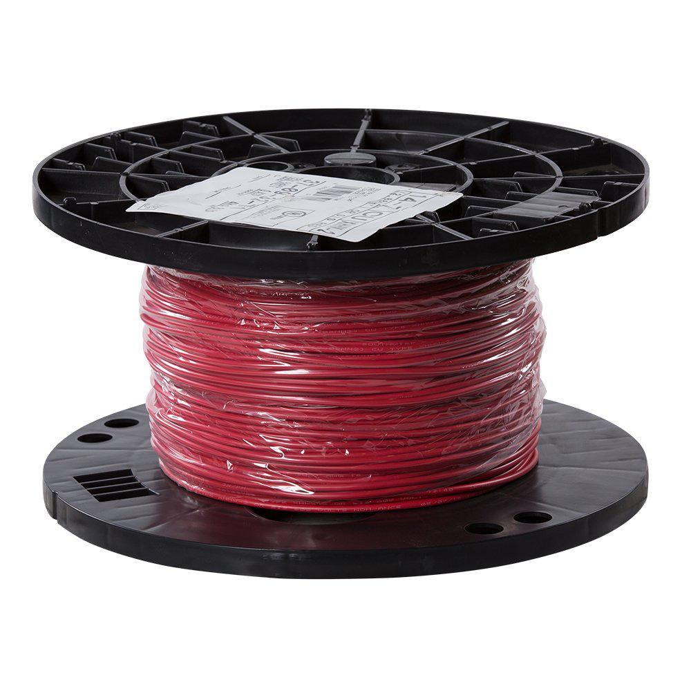 southwire 500 ft 14 red stranded cu xhhw wire 37093271 the home depot