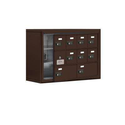 19100 Series 30.5 in. W x 20 in. H x 9.25 in. D 9 Doors Cell Phone Locker Surface Mount Resettable Lock in Bronze