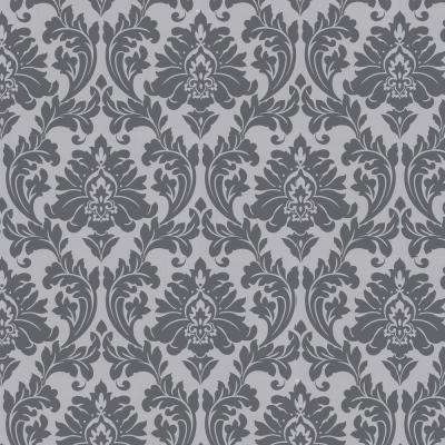 Grey Wallpaper Home Decor The Home Depot Delectable Grey Pattern Wallpaper