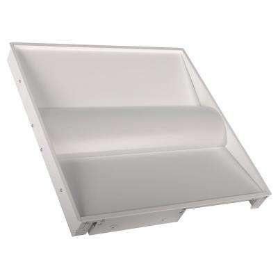 2 ft. x 2 ft. 64-Watt Equivalent White Volumetric Panel Integrated LED Luminaire Troffer Warm White