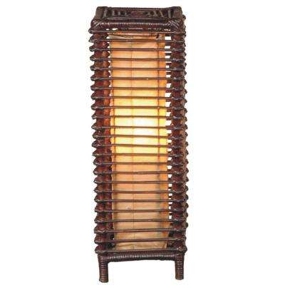 Meridian 24 in. Dark Espresso Table Lamp with Zen Inspired Design