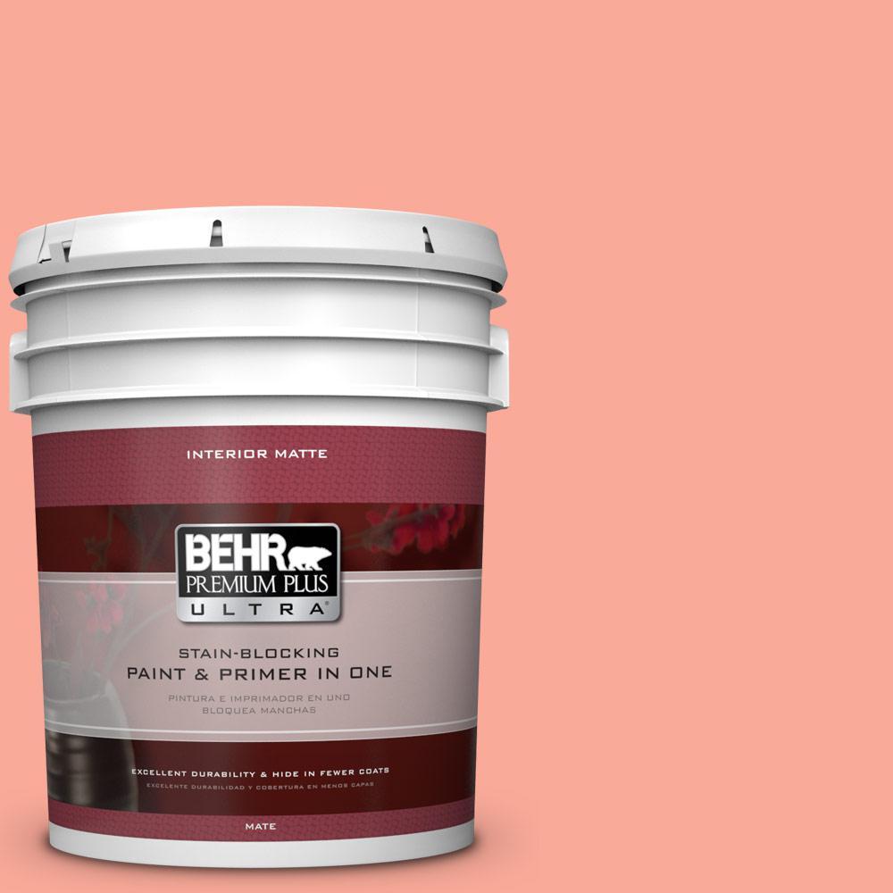 BEHR Premium Plus Ultra 5 gal. #190B-4 Duchess Rose Flat/Matte Interior Paint