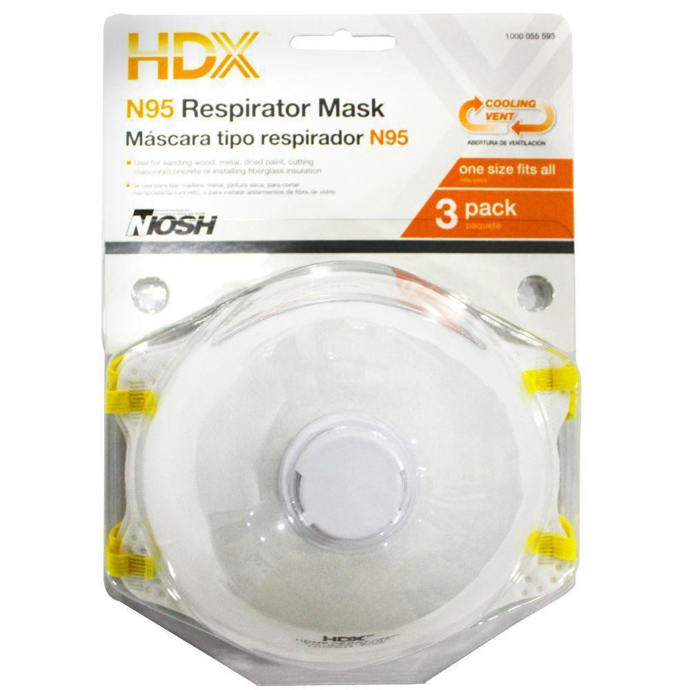N95 Disposable Respirator Valve Blister (3-Pack)