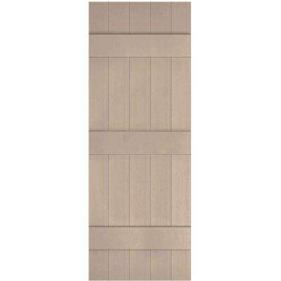 17-1/2 in. x 71 in. Lifetime Vinyl Custom Five Board Joined Board and Batten Shutters Pair Wicker